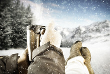 Winter Background Of Free Spac...