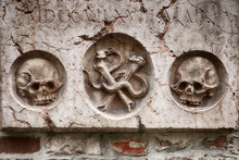 Detail Of An Antique Tombstone...