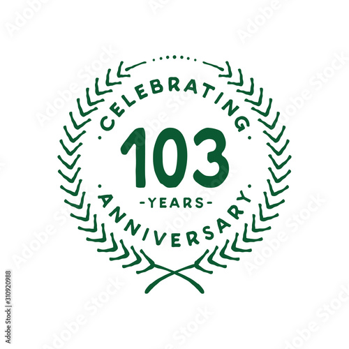 Papel de parede  103 years design template. 103rd logo. Vector and illustration.