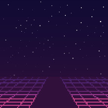 Vector Pixel Art Of 80s Retro ...