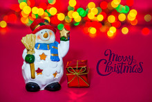 Toy Christmas Snowman With Tex...
