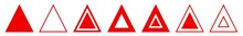 Triangle Icon Red | Label Tria...