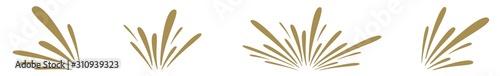 Photo Splash Icon Gold | Splashes | Droplets Symbol | Splashing Logo | Liquid Motion S