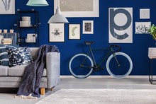 Blue Living Room With Inspirin...