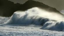 Surf, Crashing Waves And Rocks
