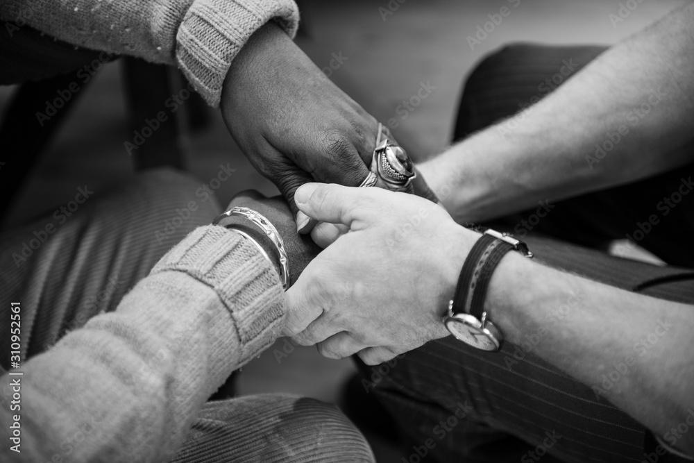 Fototapeta Black and White hands