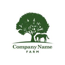 Horse And Tree Logo