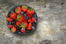 A Bowl Filled With Fresh Ripe ...