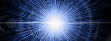 抽象的な青い光線