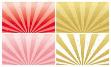 放射状の線の背景4種