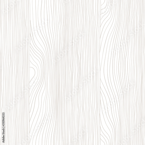 Seamless wooden pattern. Wood grain texture. Dense lines. Abstract background. Vector illustration Wall mural