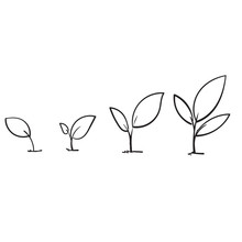 Line Art Growing Sprout Plant ...