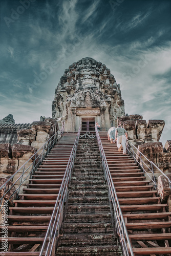 Photo Top of Angkor Wat, Siem Reap, Cambodia