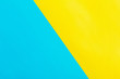 canvas print picture - blue and yellow paper background