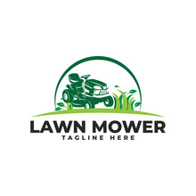 Lawn Mower Logo Vector Icon Il...