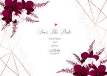 Geometric Card. Autumn Chic Wedding Invitation.