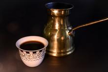 Turkish Coffee Cup And Cezve I...