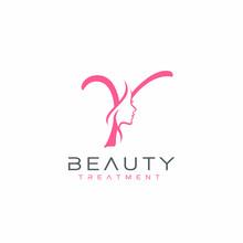 Letter Y Beauty Face Logo Desi...