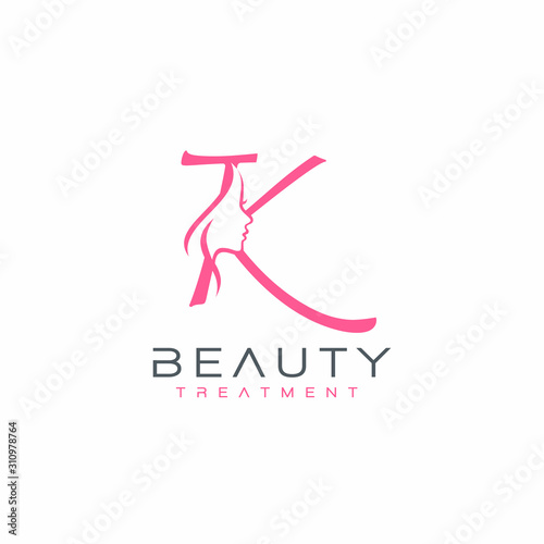 Letter K Beauty Face Logo Design Vector Icon Buy This Stock Vector And Explore Similar Vectors At Adobe Stock Adobe Stock