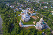 Over The Old Borisoglebsky Monastery On A July Day (aerial Photography). Torzhok, Russia
