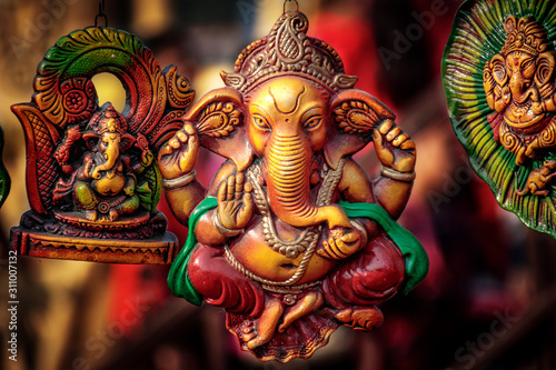 Photo Ganesha statue on display for sale
