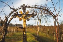 Religious Cross On A Tree