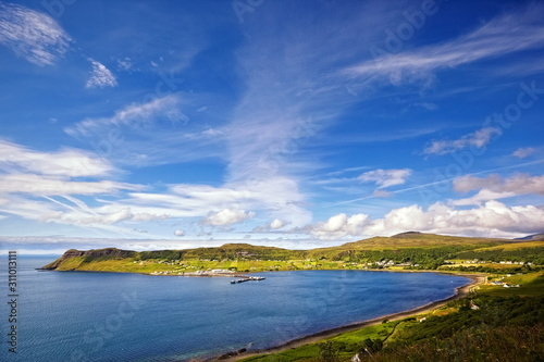 Vászonkép view on Uig harbour and village, Isle of Skye, Scotland