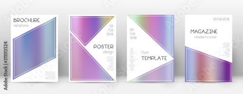 Flyer layout. Triangle authentic template for Broc Canvas Print