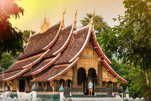 Valokuva  Ancient buddhist temple of Wat Xieng Thong.