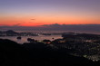 暁の土佐湾と浦戸湾(高知県)