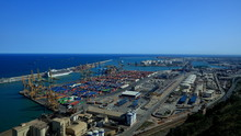 Cargo Port Filled With Contain...