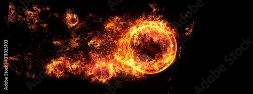 炎の渦 Fototapet