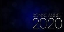 Bonne Année 2020étoiles Bril...