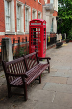 Wooden Bench In A London Stree...