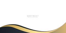 Modern Gold Black Abstract Wave Curved Background For Presentation Design