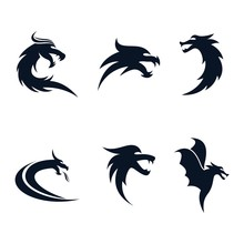 Dragon Head Symbol Illustration