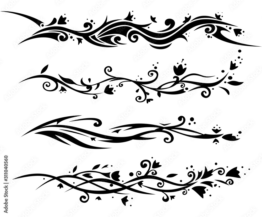 Fototapeta Floral tatoo for women.
