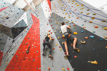 Couple Of Athletes Climber Mov...