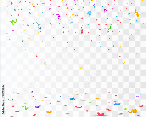 Color Confetti Isolated On White Background. Vector Obraz na płótnie