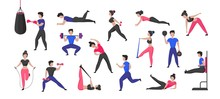 Sport Training. Cartoon Male A...