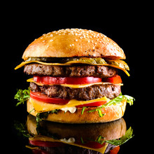 Homemade Double Cheese Burger ...