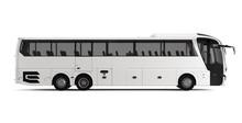 White Big Tour Bus Right View