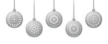 Silver Hanging Christmas Balls...
