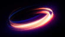 Glow Swirl Light Effect. Circu...