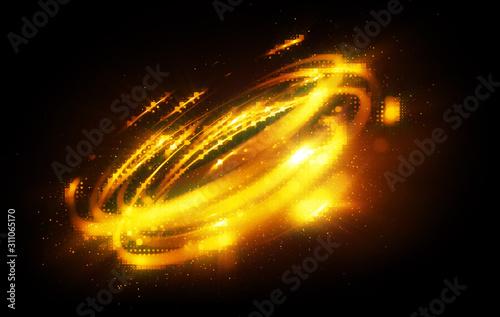 Photo Glow swirl light effect