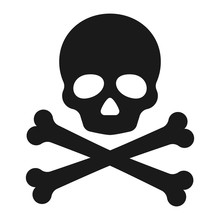 Roger Symbol. Pirate Scull Ico...