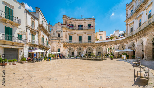 Martina Franca, province of Taranto, Apulia, southern Italy. Billede på lærred