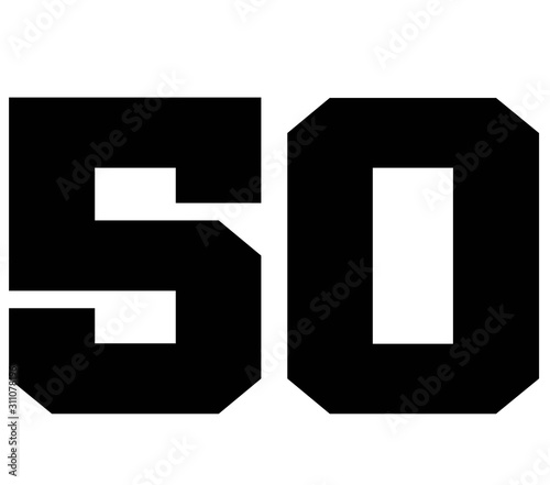 80,Classic Vintage Sport Jersey Number, Uniform numbers in black as fat fonts, number Canvas Print