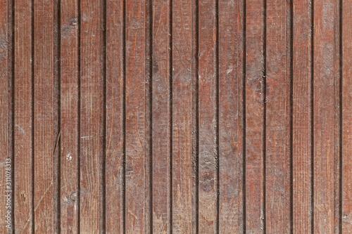 Fototapeta Old Weathered Brown Wooden Planks obraz na płótnie
