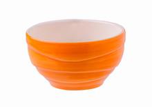 Empty Orange Ceramic Bowl